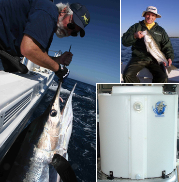 inshore and offshore bait tanks